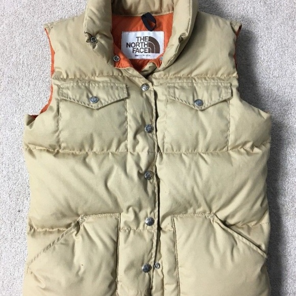 10a0dd278 Vtg 70s 80s The North Face Down Filled Puffer Vest